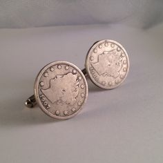Men's Genuine US Lady Liberty V Nickel Cuff Links, Rare 1907 1908 Coin Hand Crafted Cufflinks with Crowned Head & 13 Stars on Etsy, $26.99