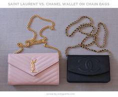 ExtraPetite.com - Bag review: YSL Saint Laurent wallet on chain