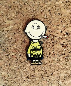 """Russ Holmes """"Charlie's Down"""" Hat Pin - Charlie Brown Peanuts Ganja Love, Hip Hop Classics, Lucy Van Pelt, Wu Tang Clan, Love N Hip Hop, Charlie Brown Peanuts, T Art, Gadgets And Gizmos, Stickers"""