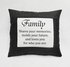 Family Mini Pillow Loves You For Who You Are by yellowroseaccents, $13.95