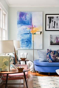Instantly, the artwork is the centerpiece.
