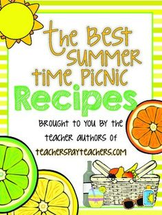 Click on the FREE download to get 75 delicious picnic recipes FREE!!!!!!!  Thank you to all the awesome TPT sellers who took the time to send me their favorite recipes and make this recipe book possible.  We're springing into summer with good taste!!  AND WE HAVE 75 RECIPES FOR YOU!!