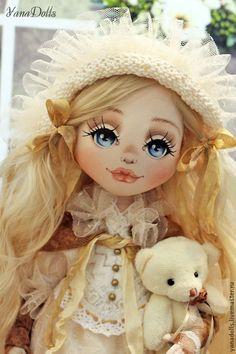 Дашенька - кремовый,молочный,кукла ручной работы,кукла,кукла в подарок