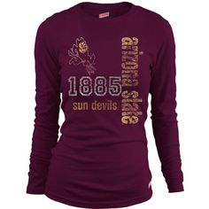 Soffe Arizona State Sun Devils Women s Long Sleeve T-Shirt Extra Large   22.00 4e99703ab