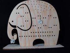 Jewelry organizer Elephant wooden Jewelry stand an by CinkyLinky