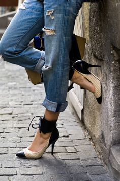 Current Elliot jeans - isabel marant shoes...she will love it. The House of Q