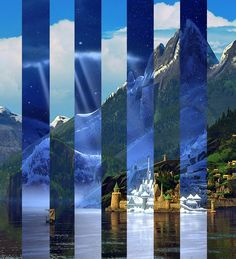 Arendelle - Summer & Winter - this is really nice!!