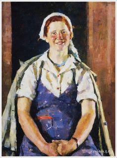 Цейтлин Григорий Израилевич (Россия, 1911-2000) «Портрет колхозницы Фоминой»