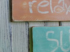 DIY weathered signs