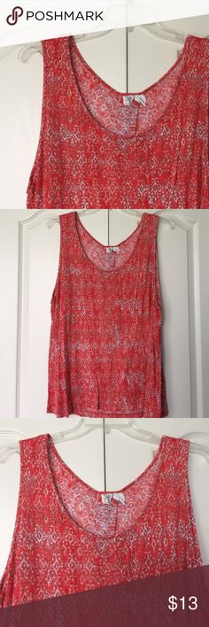 Spotted while shopping on Poshmark: Coral print tank tunic! #poshmark #fashion #shopping #style #Artisan Ny #Tops