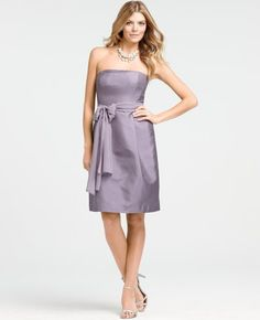 Silk Dupioni Strapless Dress - this one is on sale!