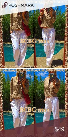 👜Bcbg👜 Plaid cream & brown BCBG styling jacket, classy for work and styling for play!. Looks amazing with shorts, jeggings and so on. Make up your own rocking style with this beauty!. BCBG never fails always fabulous!. BCBGMaxAzria Jackets & Coats Blazers