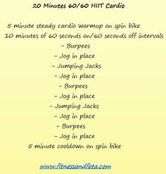 20 Minutes 60/60 HIIT Cardio