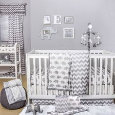 get comfy and cute baby bedding, crib bedding, baby bedding sets and more at buybuyBABY. Find baby girl bedding, baby crib bedding and baby boy bedding; Baby Crib Bedding Sets, Girls Bedding Sets, Baby Bedroom, Baby Cribs, Comforter Sets, King Comforter, Elephant Nursery Bedding, Elephant Themed Nursery, Grey Nursery Boy