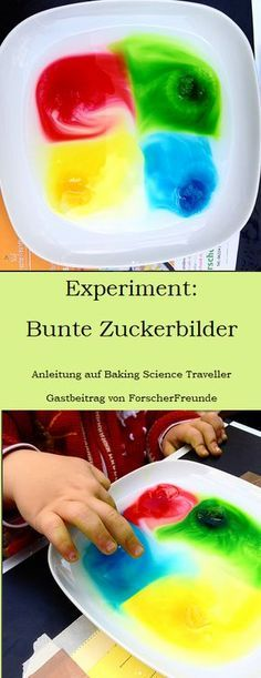 Sugar images {experiment}-Zuckerbilder {Experiment} Today I brought you something completely new: the first guest post! Annette is a guest of the friends of the researchers and she brought us an exciting experiment: ~~~~~~~~~~~~~~~~~~~~~~… - Science Experiments Kids, Science For Kids, Activities For Kids, Science Daily, Crafts To Do, Crafts For Kids, Kids Diy, Projects For Kids, Craft Projects