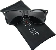 WearMe Pro - Polarized Lens Black Wayfarer Sunglasses (Bl...