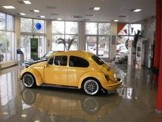 beetle - yellow car..Re-pin...Brought to you by #HouseofInsurance for #AutohomeInsurance #EugeneOregon