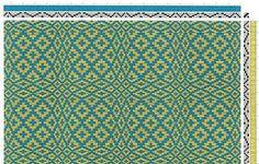 undulating rosepath | Margaret Windeknecht | The Rosepath Motif | 4-shaft, 4-treadle