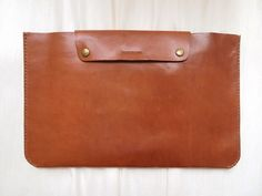 Personalized 11 Macbook Air Case - Leather -Hand Stitched