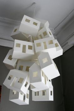 MINI MOBILE Paper House Mobile por creatorB en Etsy