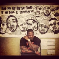 Busta Rhymes chilling along the Wu Tang art Never Dead, Busta Rhymes, Wu Tang Clan, Hip Hop Rap, Iconic Movies, Great Shots, Grab Bags, Record Producer, Black Is Beautiful