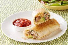 Kraft Food & Family (Summer 2015): Portobello and Avocado Burritos - Filled with mushrooms, rice and avocados and served with salsa, these burritos will make your meat-free Mondays the culinary highlight of the week.
