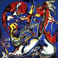 #Pollock La lDonna-Luna taglia il cerchio,1943