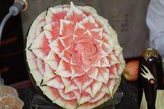 Melone - Früchteschnitzkunst von Arthur Felger
