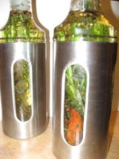 Huile d'olive aromatisée maison
