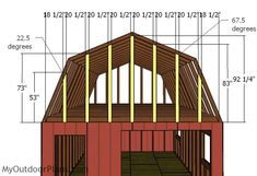 This step by step diy project is about gambrel shed roof plans. This is PART 2 of the large shed project, where I show you how to build the gambrel roof for this shed.