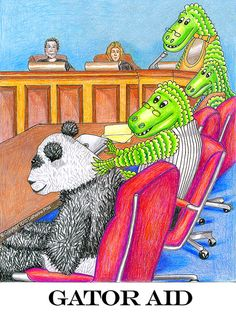 """""""Gator Aid"""" legal humor art by Catherine Post"""