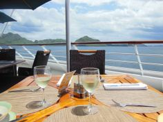Lunchtime on the Azamara Journey cruise ship in beautiful Komodo!