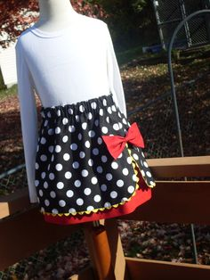 Buy Any 2 Skirts and Get 1 FREE, Minnie Mouse Wrap Skirt, Size 2, 3, 4, 5, 6, 7, 8, 9, 10, and 12 on Etsy, $27.49