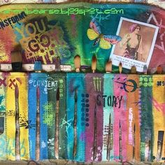 What a STUNNING mixed media @canvascorpbrandsshop Paintbrush Holder altered with @stencilgirl_products stencils designed by @sethapter and @TatteredAngels colors! Crew Member @karenbearse shares step by step photos of her creative process. POP OVER to the #canvascorpbrands blog and CHECK IT OUT! #SGPCCBmatchup #stencilgirl #canvascorp #tatteredangels #GIVEAWAY