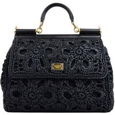 DOLCE & GABBANA Raffia Miss Sicily Bag ($2,160) ❤ liked on Polyvore