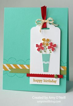 A Pictogram Vase, Love the layout, colors of this cards. www.stampstodiefor.com