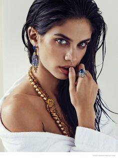 Sara Sampaio Stuns in Jewelry Looks for Alvaro Beamud Cortes in Vogue Spain