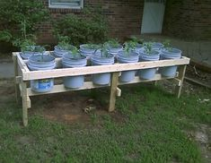 Diy plastic bucket raised garden beds no bending no weeding gardening raisedgardenbeds raisedgardenbeds homestead homesteading 45 easy diy raised garden bed design front and backyard landscaping ideas Cheap Raised Garden Beds, Plants For Raised Beds, Elevated Garden Beds, Raised Vegetable Gardens, Building Raised Garden Beds, Veg Garden, Vegetable Gardening, Diy Garden Bed, Raised Gardens