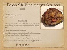 paleo stuffed acorn squash... and other GREAT recipes!
