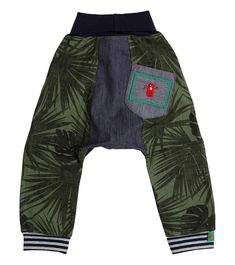 Jungle Out There Harem Pant, Oishi-m Clothing for Kids, Winter Break 2018, www.oishi-m.com
