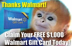 FREE 1,000 $ Gift Walmart Card. Only a few left. Claim yours today.  http://members1.net/walmart/?src=pt1