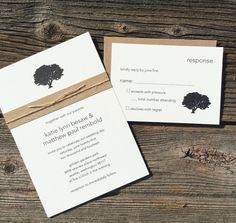 Tree Wedding Invitation . Wedding Invitations by ArielShulerDesign, $2.35