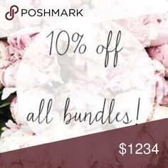 Bundles of three or more My prices are already very reasonable as I want everyone to enjoy having new wardrobe items  three or more in a bundle and an extra 10% off. Happy Posjing🌸🌺 Other