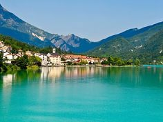 Lake Barcis, Italy!!! I miss this place. So beautiful. Almost like a dream and Ivy grew up hiking these mountains.