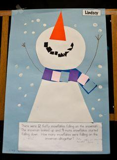 Cute winter math project