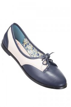 Banned Navy & Classic Cream Kendra Dolly Swing Shoes