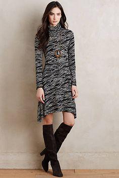 Turtleneck Swing Dress