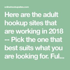 Adult Hookup Sites that Work - Pick the One that Suits You Best Dating Apps Free, Best Free Dating Sites, Dating Sites Reviews, Dating Tips, Dating World, Serious Relationship, I Feel Good, Self Confidence, Cool Suits