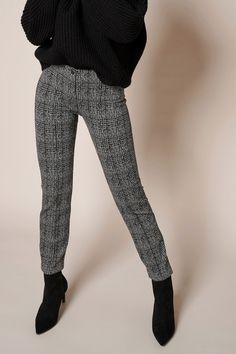 Rosner Damen Stoffhose Antonia_298 Schwarz/Grau | SAILERstyle Trends, Skinny, Elegant, Fit, Pants, Fashion, Pant Suits, Black, Gowns