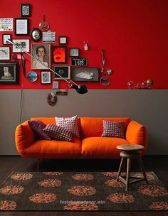 Nice 10 Reasons To Decorate Your Home With Bold Colors (24 Pics)   The post  10 Reasons To Decorate Your Home With Bold Colors (24 Pics)…  appeared first on  Feste Home Decor . Bedroom Color Schemes, Bedroom Colors, Interior Simple, Interior Design, Sala Grande, Location Villa, Red Rooms, Red Walls, Living Room Remodel